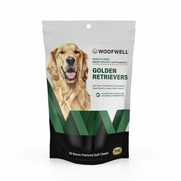 WoofWell Breed Specific Dog Health Supplement for Golden Retrievers